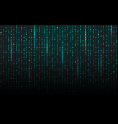 matrix background streaming binary code falling vector image
