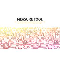 Measure tool concept vector