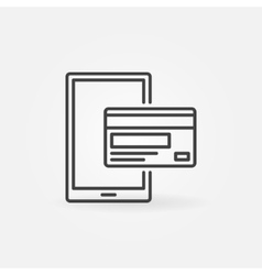 Mobile payment linear icon vector