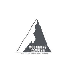 Monochrome emblem or logo of the mountains ideal vector image