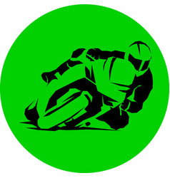 motorcycle racer speed round icon eps vector image