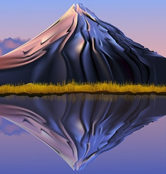 Mountain landscape reflection vector