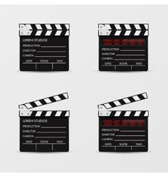 Movie clapperboard set vector