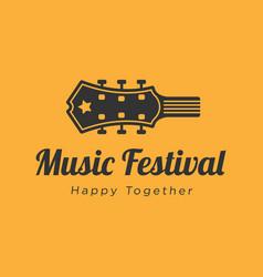 Music festival logo design inspiration vector