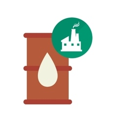 Oil barrel icon vector