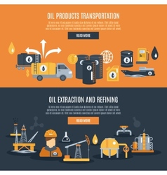 Oil Industry Banner vector