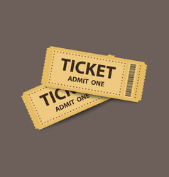 Pair stub tickets vector