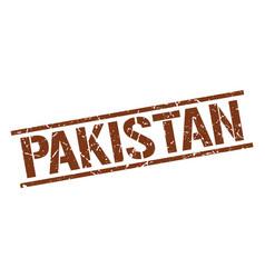 Pakistan brown square stamp vector