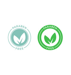 Paraben free green leaf label vector