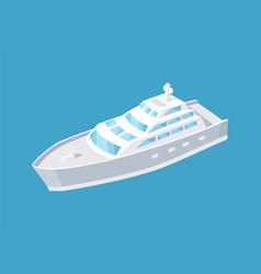 passenger liner marine travel vessel icon vector image