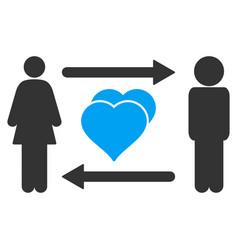 People exchange love icon vector