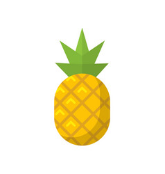 pineapple fruit flat isolated icon vector image