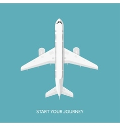 Plane airplane Flat vector image
