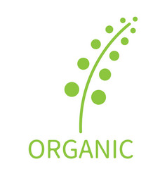 Plant organic eco concept vector