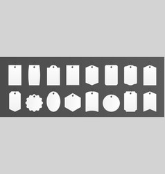 price tags realistic square and round gift box vector image