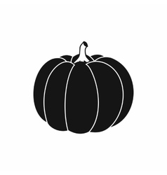 Pumpkin icon in simple style vector