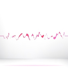 Red pink waveform background EPS8 vector