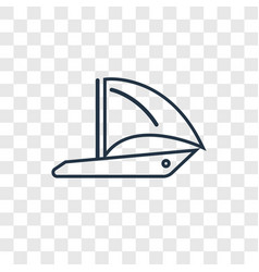 round sailboat concept linear icon isolated on vector image