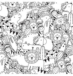 safari animals seamless pattern vector image
