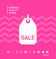 Sale tag symbol vector