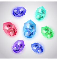 set crystals vector image