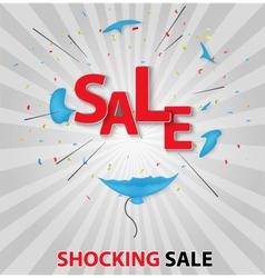 Shocked sale concept backgr vector image