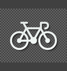 Silhouette of a bicycle cut out of paper with a vector