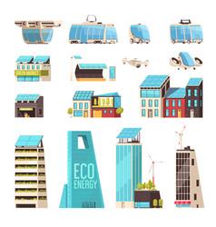 Smart city technology set vector