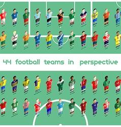 Soccer Club Team Players Big Set vector