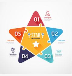 star education shape jigsaw banner concept design vector image