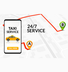taxi service app design mobile phone order vector image