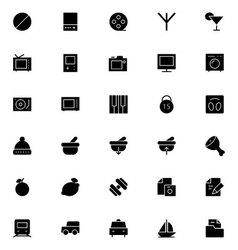 Universal Mobile Line Icons 10 vector