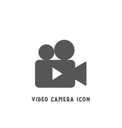 Video camera icon simple flat style vector