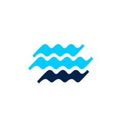water wave sea river logo icon vector image