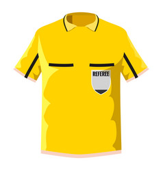 yellow soccer referee shirt icon cartoon style vector image