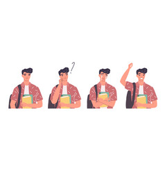young men in casual clothes with backbackpacks vector image