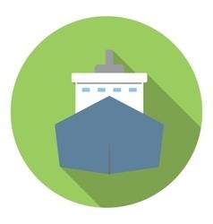 Big ship icon flat style vector image vector image
