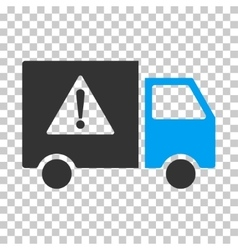 Danger transport truck eps icon vector