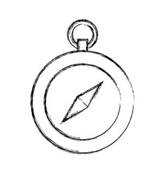 sketch draw cute compass vector image
