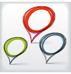 Background of abstract talking bubble vector image