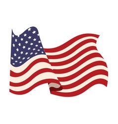 united states of america flag waving symbol vector image