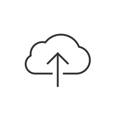 cloud data upload icon vector image