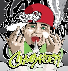 Hip Hop Character vector image vector image