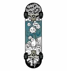 strange graffiti skateboard vector image vector image