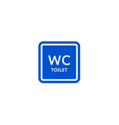 wc toilet roadsign isolated on white background vector image vector image