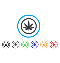 cannabis rounded icon vector image