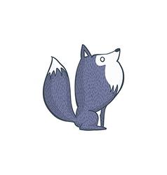 Gray Wolf Cartoon Character vector image
