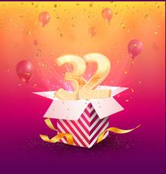 32 th years anniversary design element vector