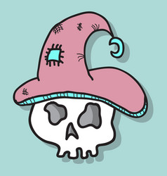 A halloween skull vector