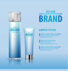 After shave cream and shaving foam set for man vector